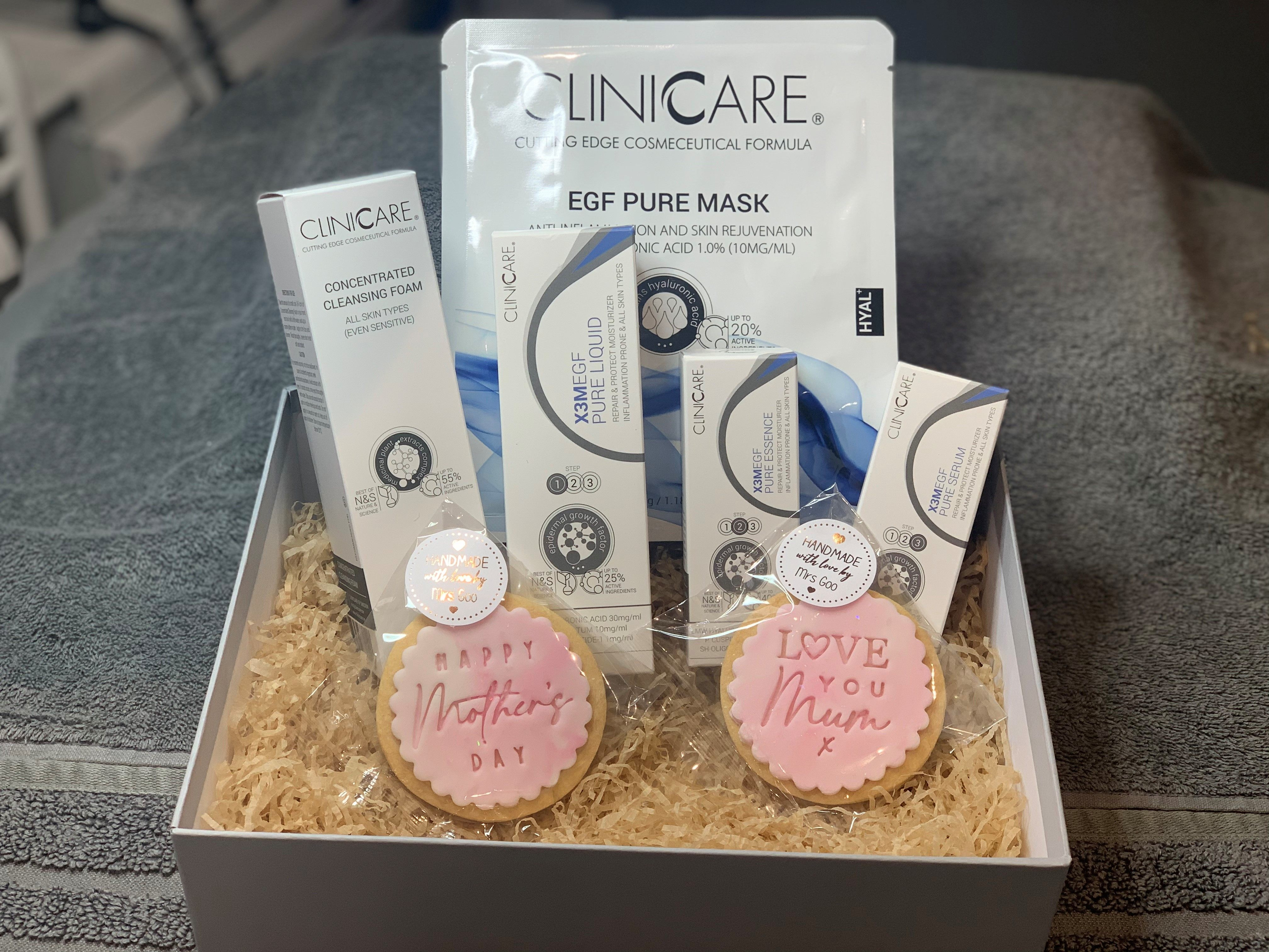 Mother's Day skincare gift Clinicare Pure range